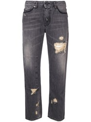 Diesel Black Gold Cropped Straight Leg Jeans Grey