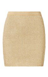 Ralph Lauren Metallic Mini Skirt Gold