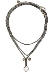 Ann Demeulemeester Chain Necklace Metallic