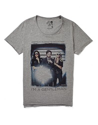 Solid Gentleman Print T Shirt
