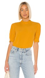 Amuse Society Palermo Top In Mustard. Gold