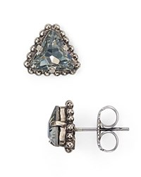 Sorrelli Swarovski Crystal Stud Earrings Gray Silver