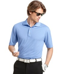 Izod Performance Solid Grid Golf Polo Riviera Blue
