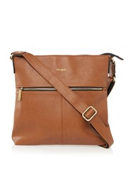 Ollie And Nic Duke Large Crossbody Bag Tan