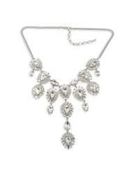 Belle By Badgley Mischka Crystal Statement Necklace Silver