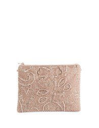 Mary Frances Beaded Swirl Bag Rose