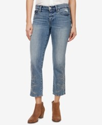 Lucky Brand Sweet Embroidered Straight Leg Jeans Candelaria
