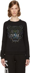 Kenzo Black And Green Tiger Sweatshirt