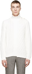 Maison Martin Margiela Ivory Multi Knit Sweater