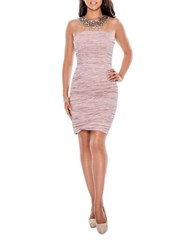 Decode 1.8 Crinkled Sheath Dress Dusty Rose