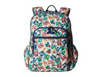 Vera Bradley Campus Tech Backpack Cuban Stamps Backpack Bags Multi