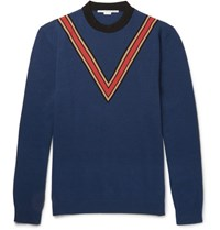 Stella Mccartney Oversized Cashmere And Wool Blend Sweater Navy
