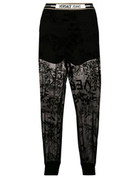 Versace Jeans Lace Panelled Track Trousers Black