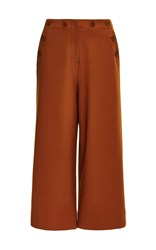 Tibi Anson Stretch Sailor Nerd Pant Brown