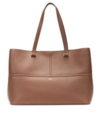 Max Mara George Leather Tote Brown