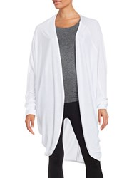 Bench Open Front Cardigan White