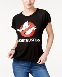 Freeze 24 7 Juniors' Ghostbusters Graphic T Shirt True Black