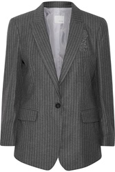 Band Of Outsiders Striped Twill Blazer