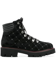 Baldinini Quilted Mountain Boots Black