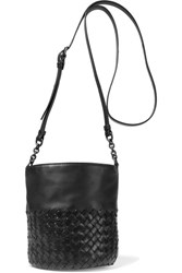 Bottega Veneta Intrecciato Leather Bucket Bag Black