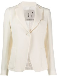 L'autre Chose Wool Single Breasted Blazer White