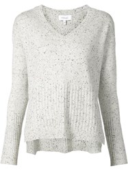 Derek Lam 10 Crosby V Neck Sweater Grey