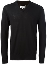Cerruti 1881 V Neck Jumper Black