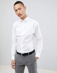 Selected Homme Slim Fit Smart Shirt With Spread Collar Bright White