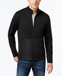 Alfani Men's Big And Tall Colorblocked Knit Jacket Only At Macy's Deep Black Combo