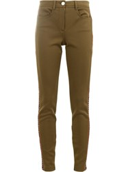 Fendi Side Logo Trousers Green