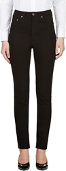 Saint Laurent Black High Waisted Skinny Jeans