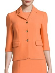 Michael Kors Notched Wool Jacket Apricot