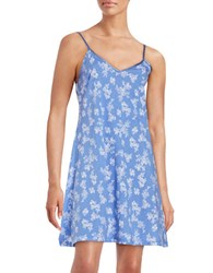 Lord And Taylor Floral Chemise Persian Jewel