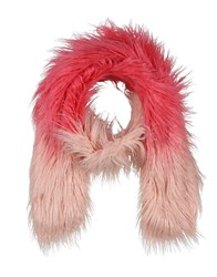 Unreal Fur Accessories Oblong Scarves Fuchsia