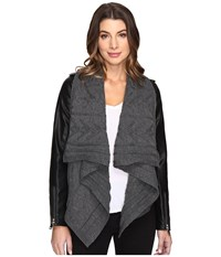 Fate Knit Vegan Jacket Charcoal Women's Coat Gray