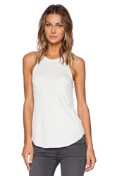 David Lerner Racer Front Tank Cream