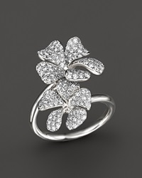 Bloomingdale's Diamond Floral Pave Ring In 14K White Gold 1.05 Ct. T.W.