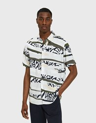Native Youth Tropi Camo Short Sleeve Shirt White