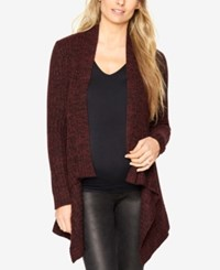 Autumn Cashmere Maternity Open Front Cardigan Wine