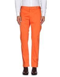 Dirk Bikkembergs Trousers Casual Trousers Men Orange