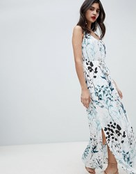 Soaked In Luxury Tonal Floral Strappy Maxi Dress Meadow Floral Multi