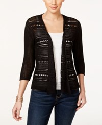 Styleandco. Style And Co. Petite Three Quarter Sleeve Open Knit Cardigan Only At Macy's