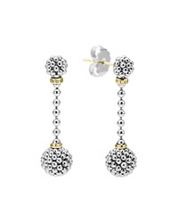 Sterling Silver Caviar Ball Drop Earrings Lagos Silver Gold