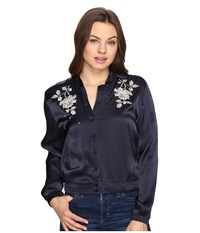 Obey Ty Bomber Jacket Navy Women's Coat