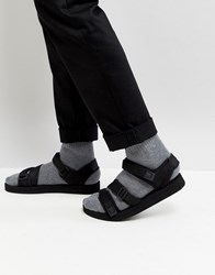 Asos Sandals In Black With Tape Straps