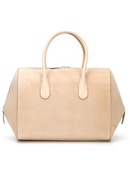 Nina Ricci Double Zip Tote Bag Nude And Neutrals