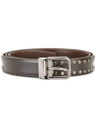 Dolce And Gabbana Studded Belt Brown