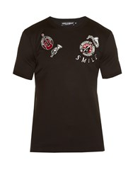 Dolce And Gabbana Badge Applique T Shirt Black