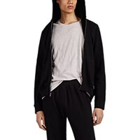 Atm Anthony Thomas Melillo Cotton French Terry Zip Front Hoodie Black