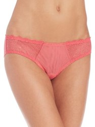 Cosabella Allover Sheer Mesh Bikini Bottom Paradise Pink